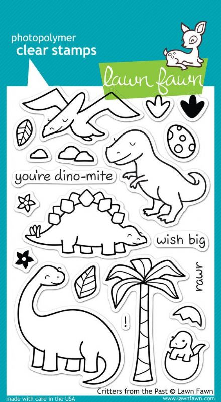 LF0602 ~ CRITTERS FROM THE PAST ~ CLEAR STAMPS BY LAWN FAWN